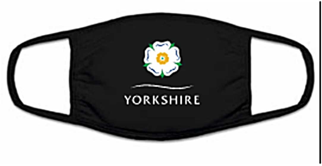Yorkshire White Rose face mask
