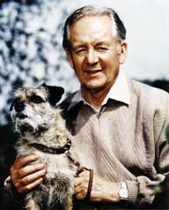James Herriot and his dog